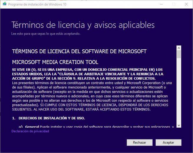 Windows 10 October 2018 Update - Crear ISO - Licencia