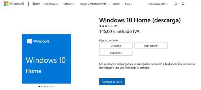 Windows 10 precio