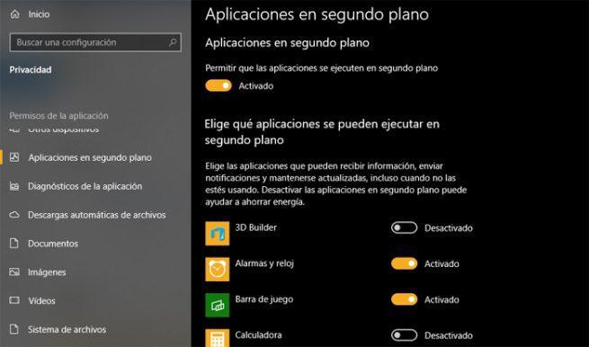 Windows 10 segundo plano