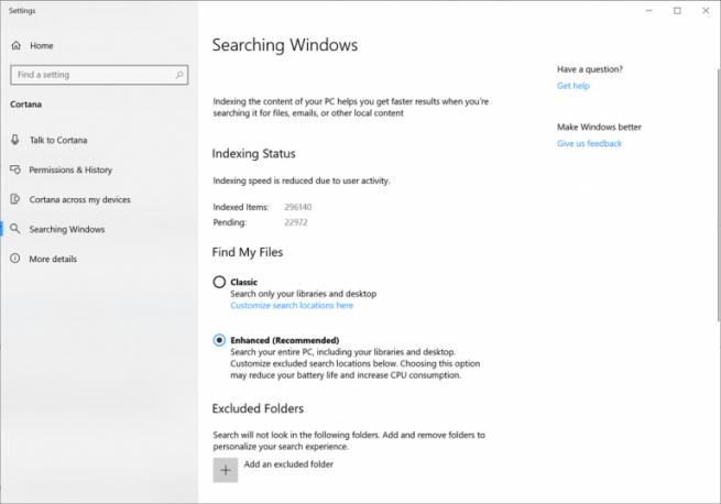 Windows 10 buscador