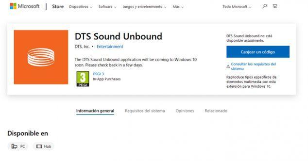 El sonido con tecnología DTS llegará a Windows 10 en breve