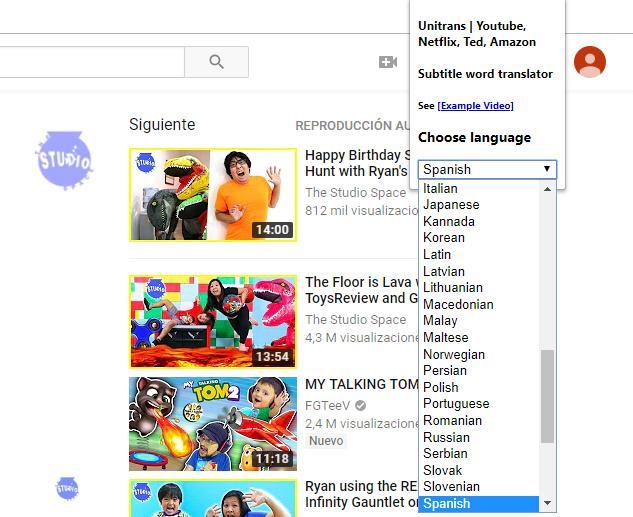 Extensiones Chrome para traducir subtítulos de YouTube o Netflix