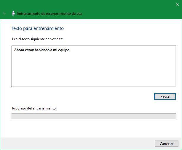 Reconocimiento voz Windows 10