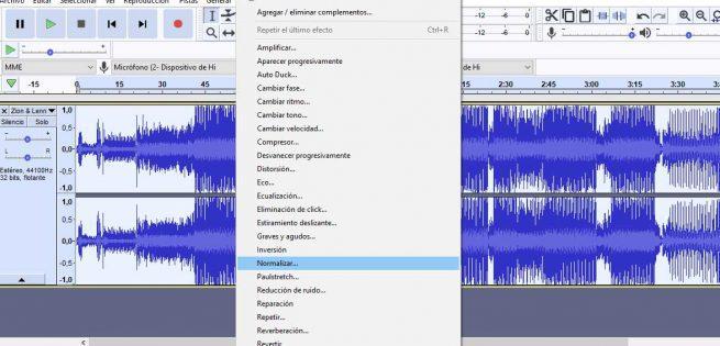 Normalizar un MP3