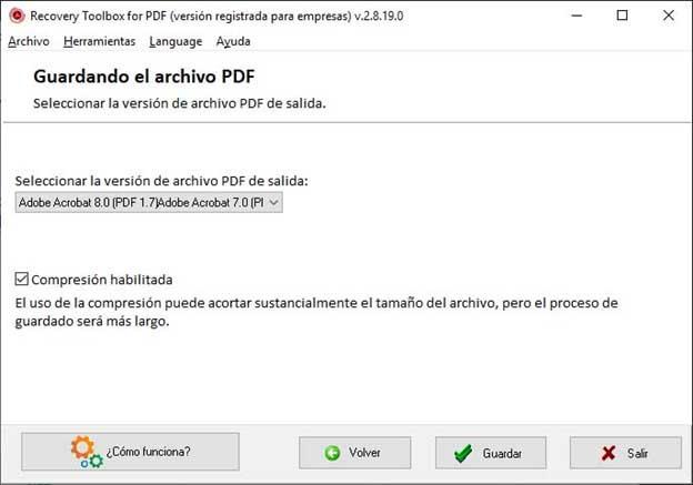 recuperar pdf dañado