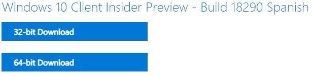 Cómo descargar una ISO de Windows 10 19H1 (build 18290)