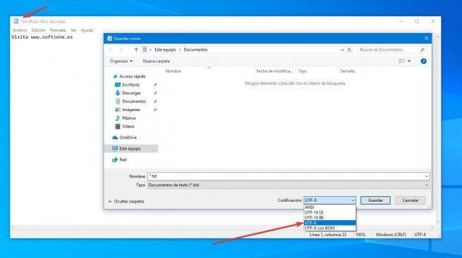 Novedades Bloc de Notas Windows 10 19H1
