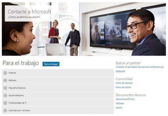 Soporte Microsoft Empresas