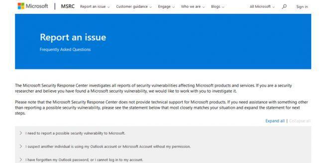 Fallos Microsoft
