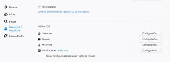 Microfono Firefox Chrome