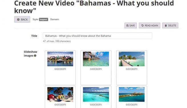 Texto vídeos