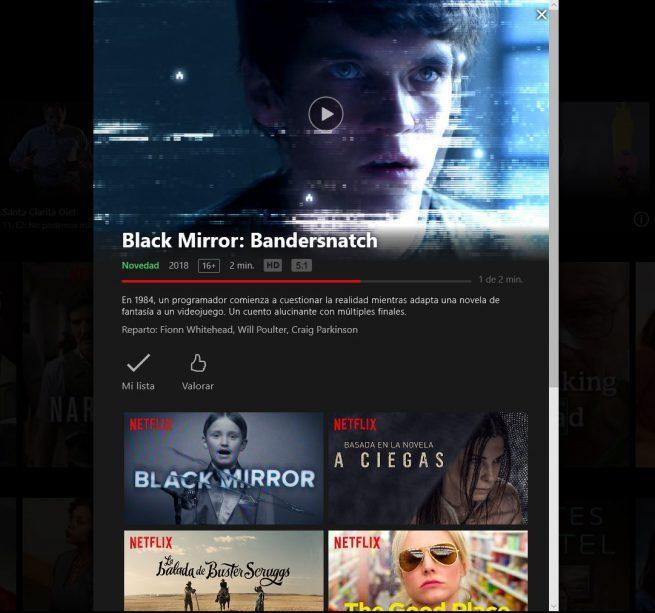 App Netflix Windows 10 no compatible contenido interactivo