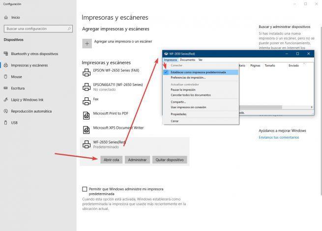 Configuración Windows 10 - Impresora predeterminada 3