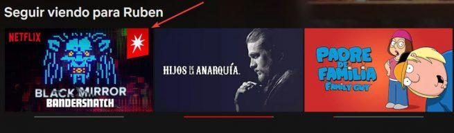 Distintivo contenido interactivo Netflix