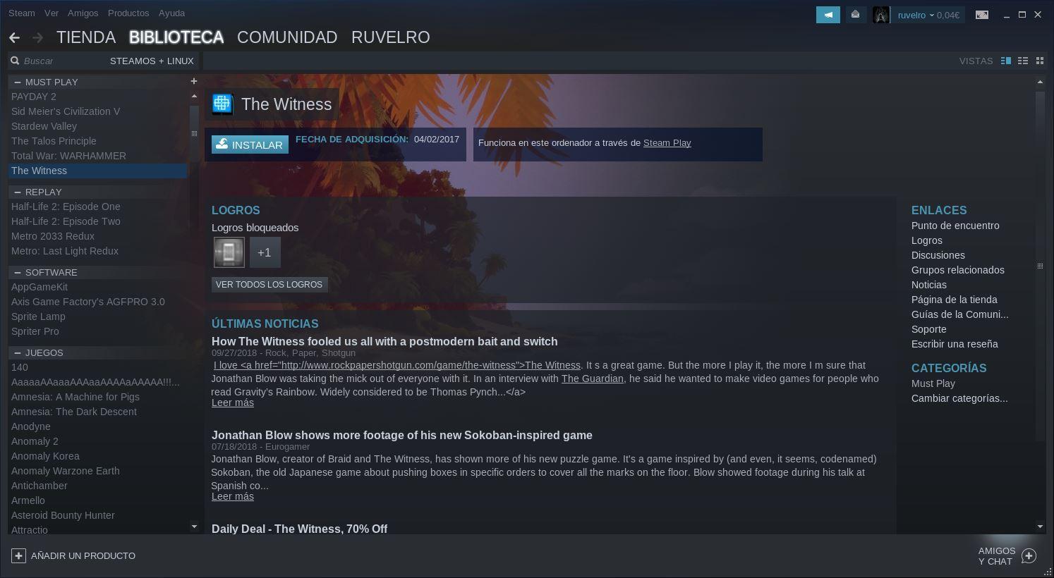 Steam Play en Linux