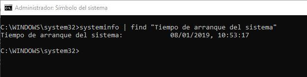 Tiempo Windows encendido - CMD
