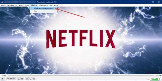 VLC añadir subtítulos