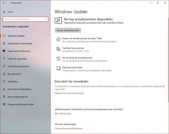 Windows 10 April 2019 Update - Pausar Windows Update
