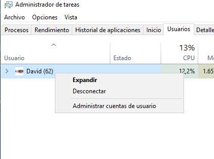 Desconectar Windows 10