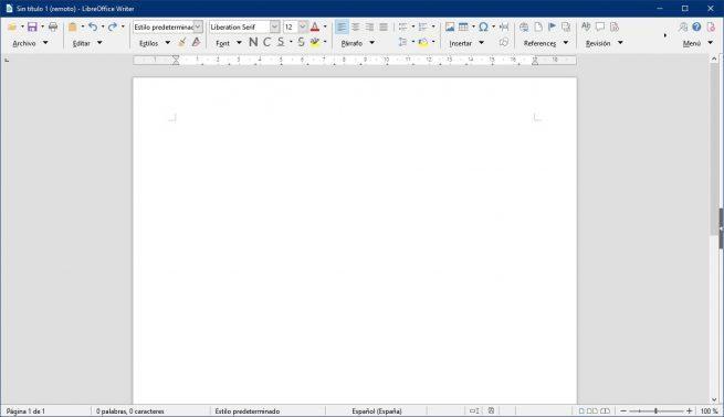 Agrupada compacta LibreOffice 6.2