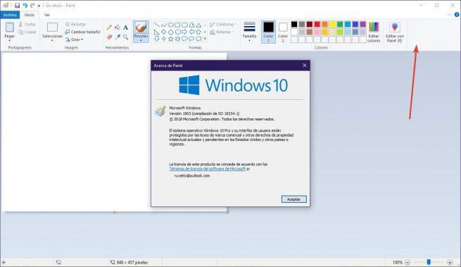 Paint Windows 10 19H1