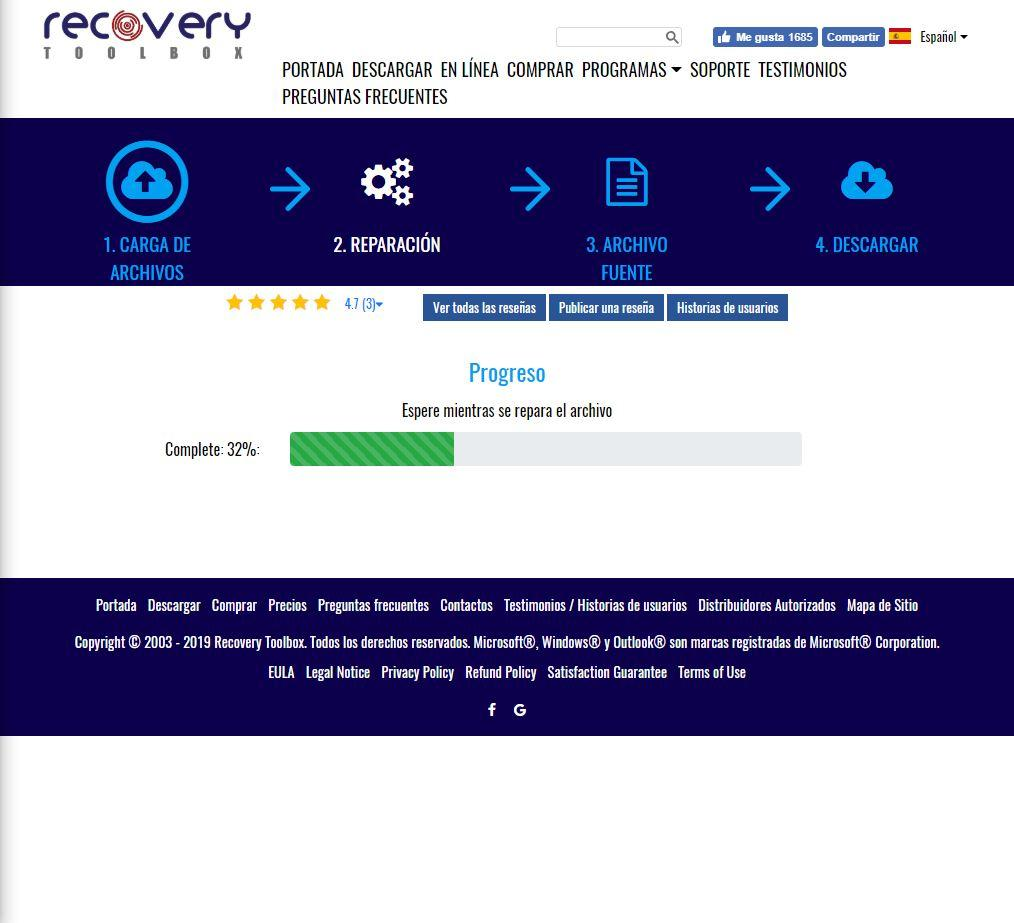 Recovery Toolbox for Project - Web 2