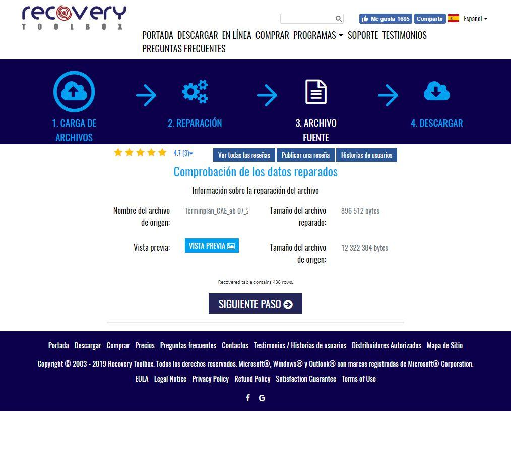 Recovery Toolbox for Project - Web 3
