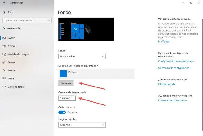 Cambiar el fondo de pantalla de Windows 10 - 7