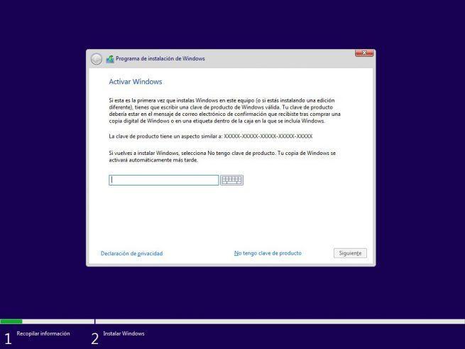 Clave licencia instalar Windows 10