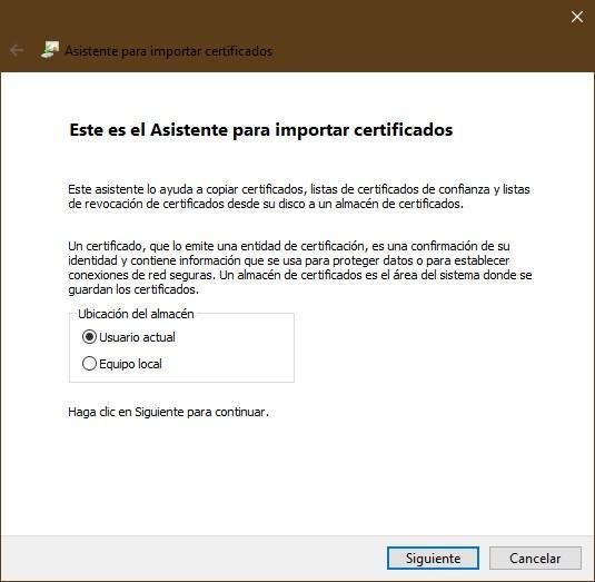 Importar certificado digital Windows - 1