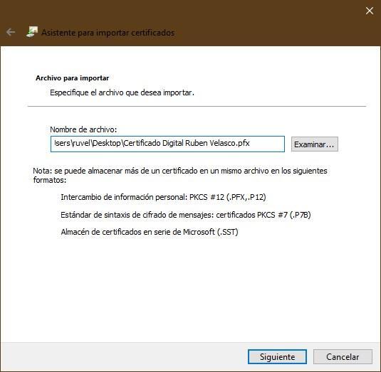 Importar certificado digital Windows - 2