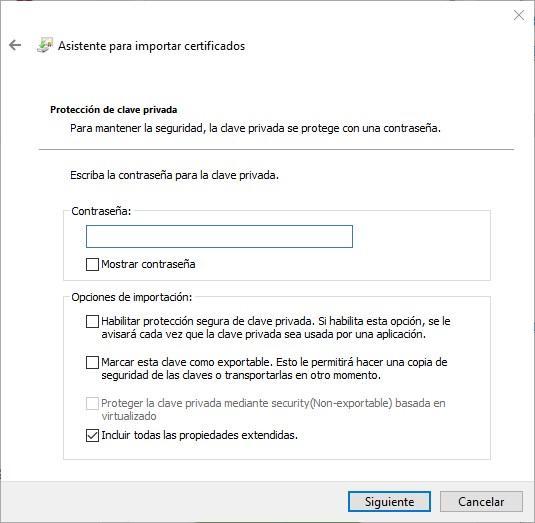 Importar certificado digital Windows - 3