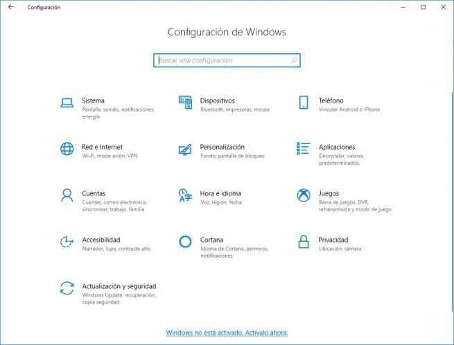 Mensaje activar Windows 10