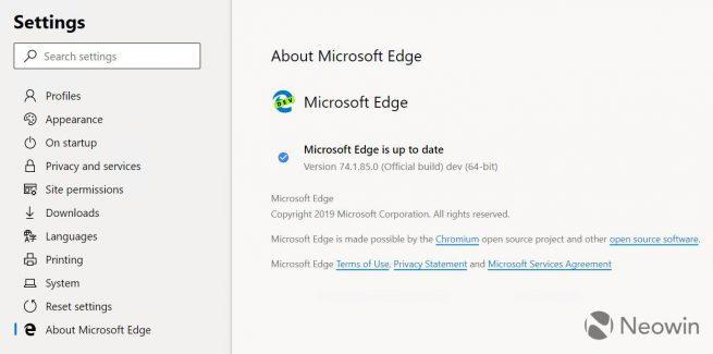 Microsoft Edge basado en Chromium - primeras capturas 4