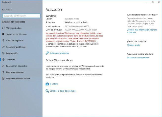 Windows 10 sin activar