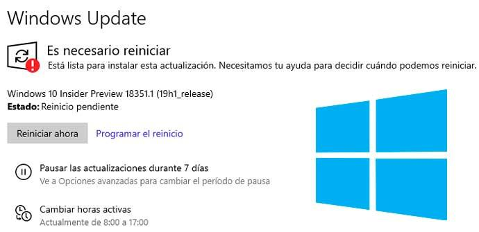 Windows Update Windows 10 1903