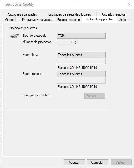 Personalizar regla Firewall Windows 10 - 2