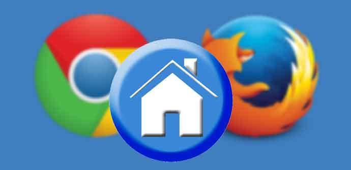 Inicio Chrome Firefox