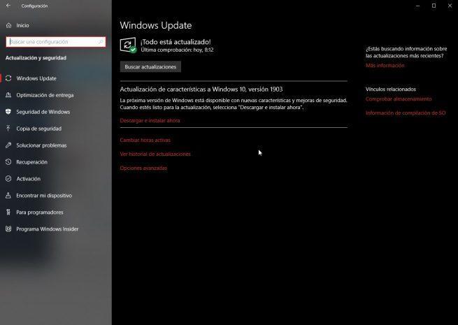 Actualización Windows 10 May 2019 Update en junio