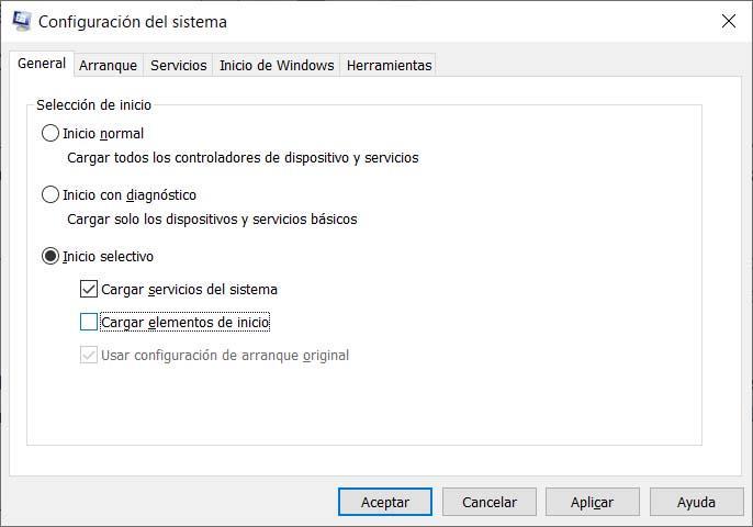 Inicio limpio Windows 10
