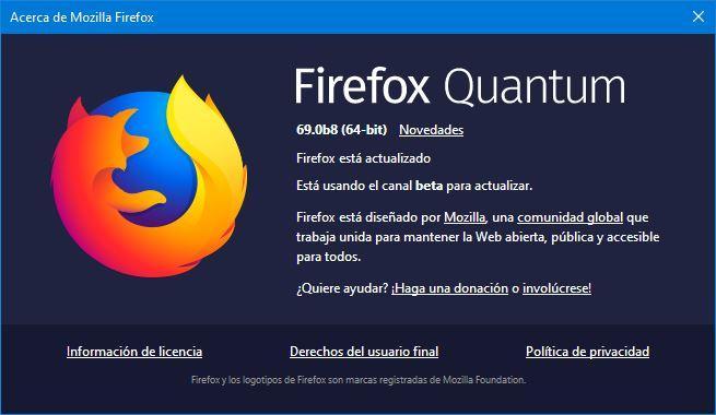 Descarga Firefox, actualizalo y prueba las versiones Nightly y Beta Firefox-Beta-69-655x380