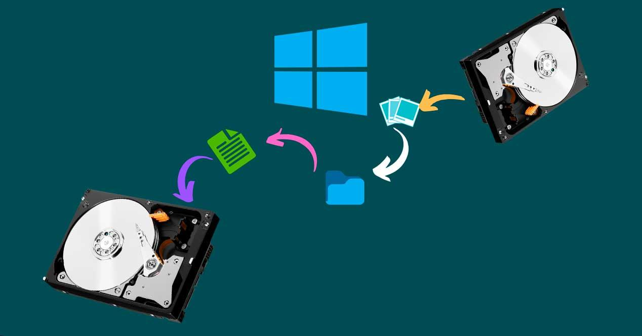 Mover archivos Windows 10