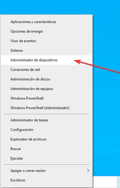 Abrir administrador de dispositivos en Windows 10 - 4