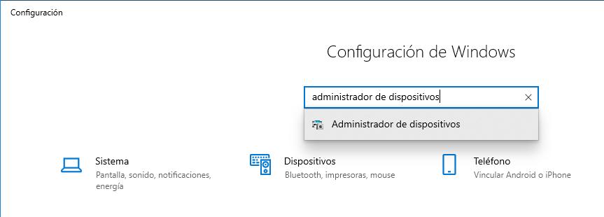 Abrir administrador de dispositivos en Windows 10 - 5