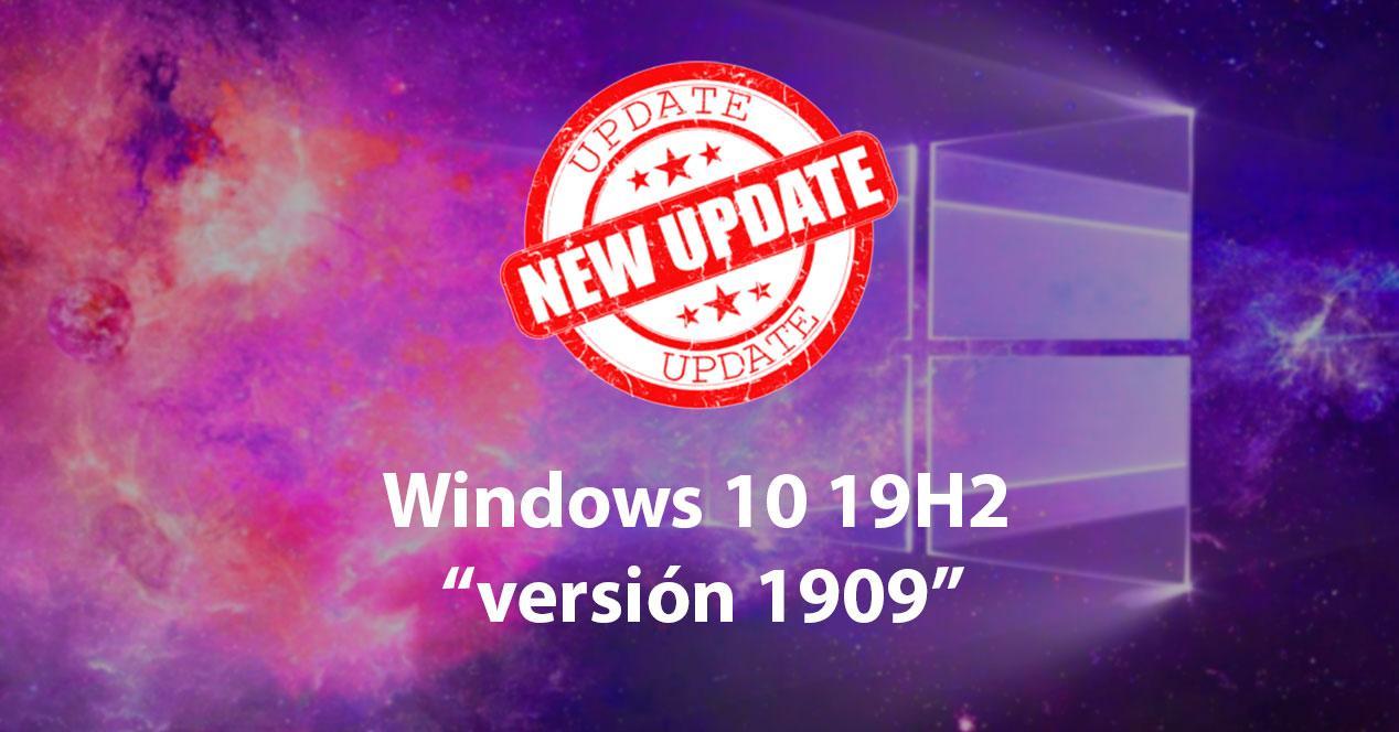 Actualización Windows 10 1909