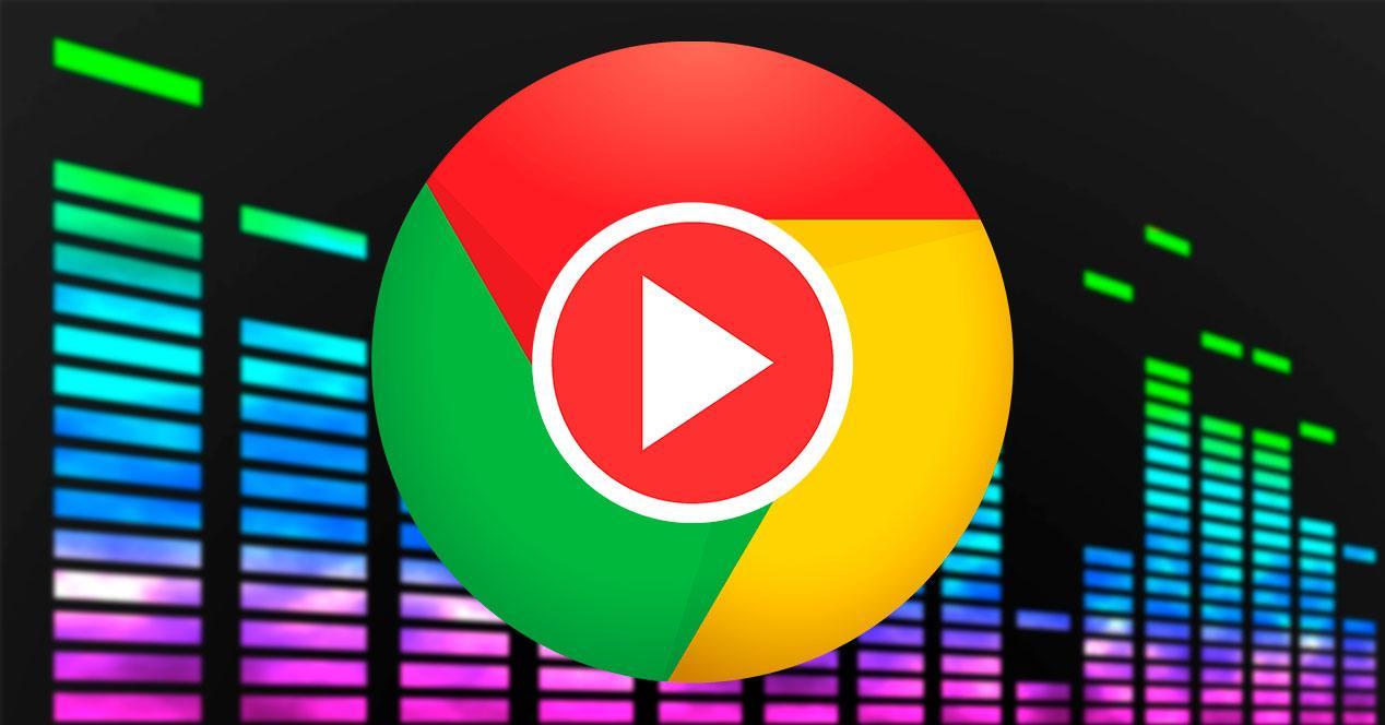 Botón reproducción música Chrome