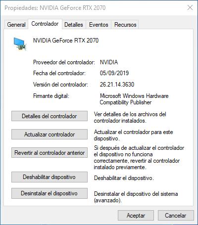 Propiedades dispositivo Windows 10 - 2