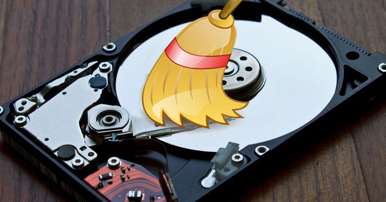 Limpiar discos duros