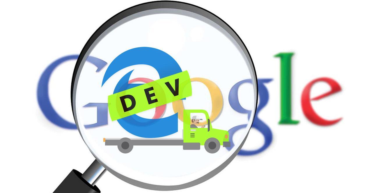 Edge Chromium motor Google
