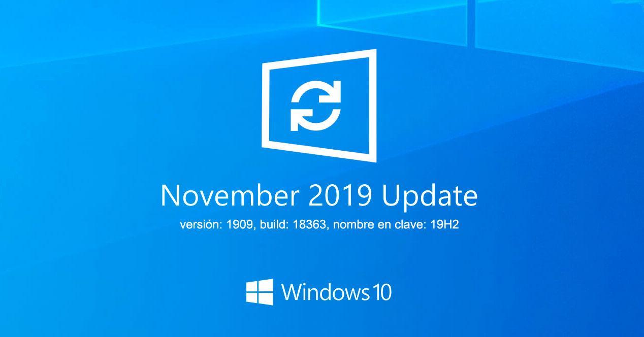 Actualización November 2019 Update Windows 10